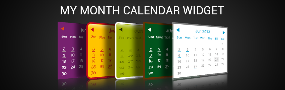 My Month Calendar Widget